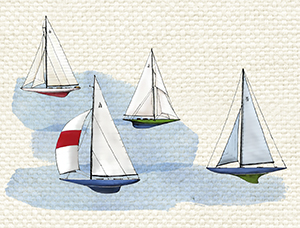 watercolor boats cover